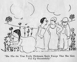 best james thurber images james thurber james d james thurber cartoons she has the true emily dickinson spirit except that she gets fed
