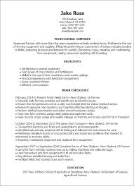 Farmer Resume Cool 28 Farmer Resume Templates Try Them Now MyPerfectResume