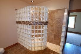 glass block doorless walk in shower