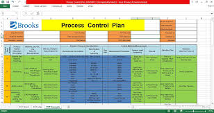 Quality Control Excel Template Process Control Plan Excel Template Engineering Management