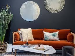 70s trend houzz living room orange velvet sofa 2018