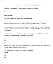 9 email cover letter templates free sample example format 5a16f252