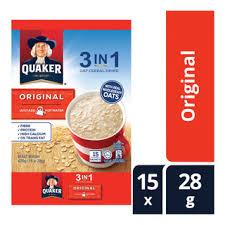 quaker 3 in 1 instant oat cereal drink original