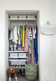 tiny closet storage ideas oh joy alcove closet makeover tiny but organized home interior design pictures