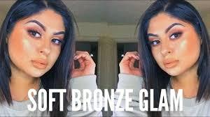 soft bronze glam makeup tutorial anhpazam 2018