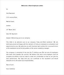Two Sample Welcome Letters For New Employees Letter To Employee From