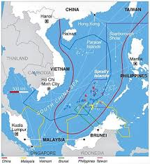 Image result for Biển Đông và đường lưỡi bò.