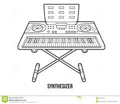 Livre De Coloriage Instruments De Musique Synth Tiseur