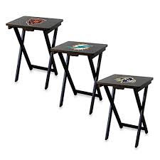 tv trays. nfl tv tray with stand (set of 4) tv trays