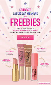 receive a free 4 pc gift with 15 too faced purchase