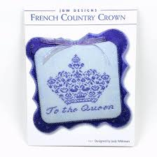 French Cross Stitch Charts French Country Crown Jbw Designs Cross Stitch Chart