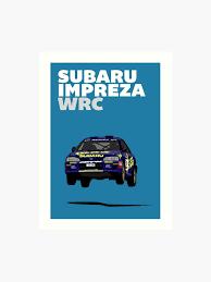 Colin Mcrae 555 Subaru Impreza Tribute Poster Art Print