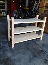 Unfinished Shoe Rack