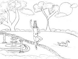 swan lake ballet coloring pages photo 5