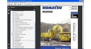 komatsu mining shovels service repair manuals