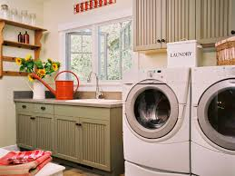Laundry room makeovers charming small Diy Charming Country Style Laundry Room Hgtvcom Tips For Storing Laundry Supplies Hgtv