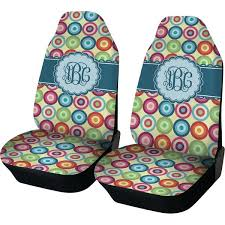 personalized baby car seat covers retro circles car seat covers set of two personalized personalised baby