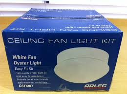 csf60o arlec ceiling fan white oyster light kit
