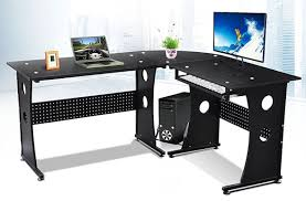 tempered glass office desk. Full Size Of Shelf:beige Wooden Corner L Shape Computer Desk With Keyboard Tray And Tempered Glass Office O