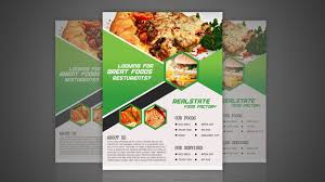 Flyer Design Food Food Flyer Design For Restaurant Photoshop Tutorial Youtube