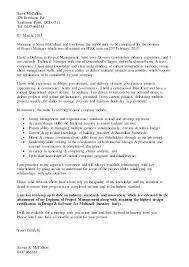 Project Manager Cover Letter Sample Construction Project Manager