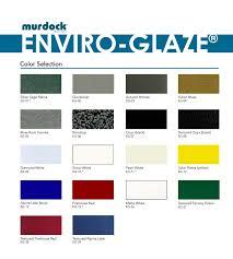 Murdock Enviro Glaze Color Chart Offers An Array Of Color