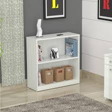 ... Inval Laricina White 2 Shelf Desk Bookcase 14668249