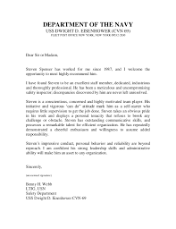Intro To Recommendation Letter U S Navy Letter Of Recommendation 2