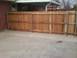Horizontal Wood Fence With Metal Posts wood fence styles wood