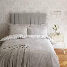 Laura Ashley Bedroom Josette Dove Grey Cotton Duvet Cover At Laura Ashley