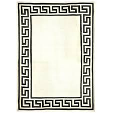 greek rug black key border reversible flat weave rug alt image 1 greek rugby