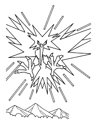 Zapdos Pokemon Coloring Pages