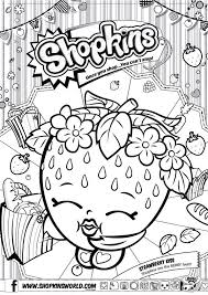 Shopkins Coloring Pages Free Printable At Getdrawingscom Free For