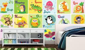 decor ideas for kids room alphabet
