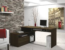 l shaped desk for two. Unique For Amazoncom Bestar Modula LShape Workstation Desk In Tuxedo Kitchen U0026  Dining Intended L Shaped For Two 2