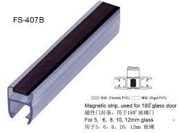 180 degree black magnetic shower door seal strip fs 407