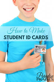 Printable Identification Card How To Make Student Id Cards Free Printable Paradise Praises