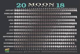 Moon Chart October 2018 Bluewater Books Charts 2018 Moon Calendar Card