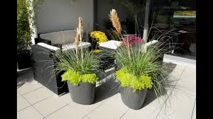 small garden design with large planters