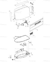 Mercury chrysler outboard parts by hp model 140hp oem parts diagram for engine cover and support plate boats