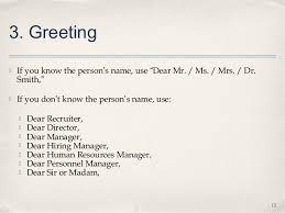 Resume Cover Letter Salutation Resume Cv Cover Letter Dear Ms Mr