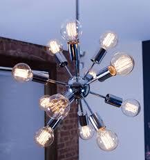 sputnik edison bulb chandelier