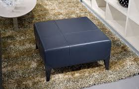 navy leather ottoman. Delighful Navy Ottomans U2013 Stark Large Navy Italian Leather Ottoman Throughout