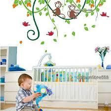 cheeky monkey jungle tree wall stickers