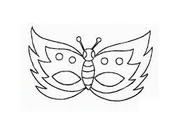 Maschere Di Carnevale Per Bambini La Farfalla Disegni Da Colorare