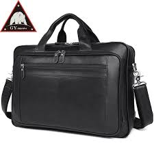 anaph original nappa genuine leather business briefcase for men 17 inch laptop bag large capacity tote bags top quality in black messenger bags briefcase