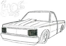 lifted truck outline drawing 2 coloring pages library chevrolet chevy pick up trucks