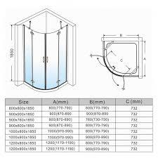 shower enclosures sizes. Plain Sizes ELEGANT NEW Quadrant Shower Enclosure Door Cubicle 6mm Tempered Glass  With Enclosures Sizes D