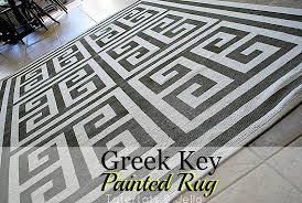 fantastic greek key area rug ikea paint a geometric greek key rug