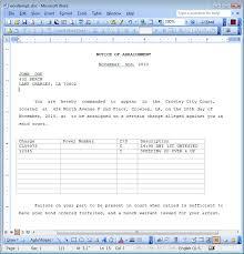 Form Microsoft Word Quick Court